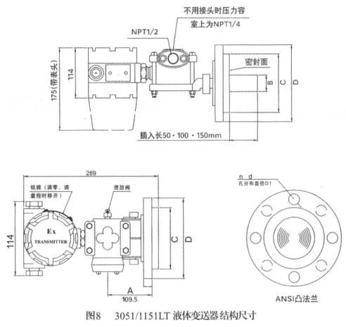 RDS-3351LT系列防腐法兰液位变送器