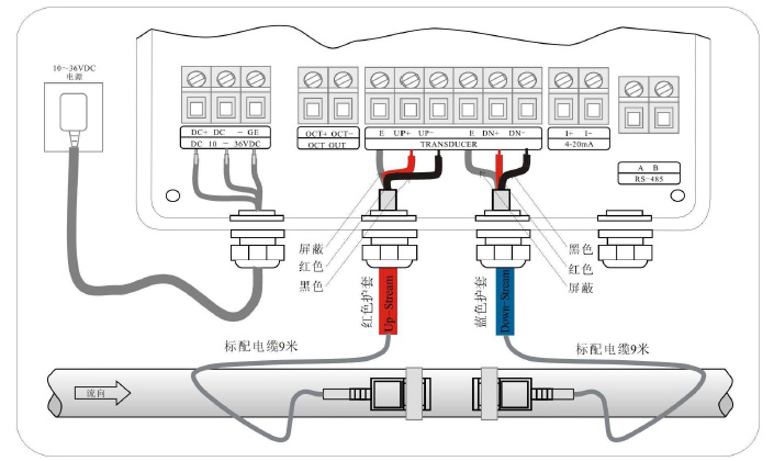 超声波流量计接线图