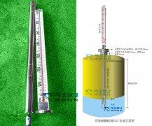 顶装式磁翻板液位计法兰大小的选择及安装中须注意事项