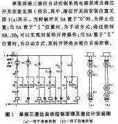 单泵、双泵排液及供液自动控制系统的工作原理及液位计的安装示意图