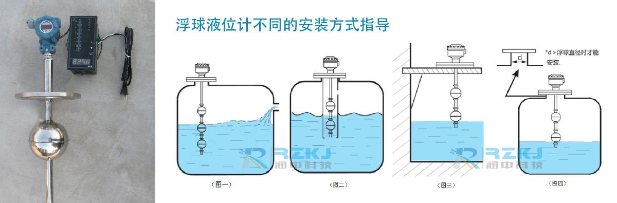 浮球液位计安装方式引导