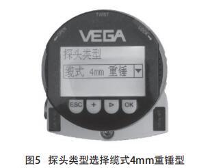 探头类型选择缆式4mm重锤型